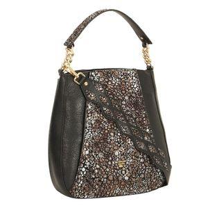 Da Milano Black Brown Long Handle Bag