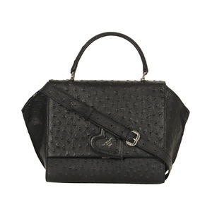 030c213e6136 Da Milano Black Top Handle Bag ...