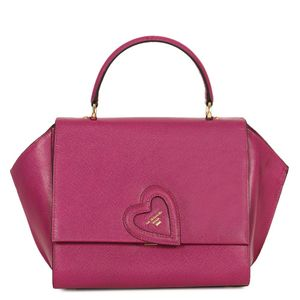 Da Milano Purple Top Handle Bag