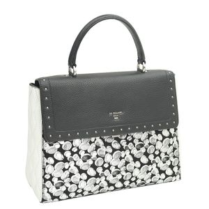 600a2e15cad ... Da Milano Black Silver Satchel Bag