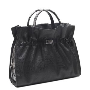 7d304e43fd35a Da Milano Black Satchel Bag · Da Milano Black Satchel Bag