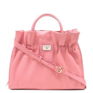 3bb8059633 Da Milano Pink   White Satchel Bag ...