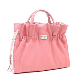 fbb2433bed ... Da Milano Pink   White Satchel Bag