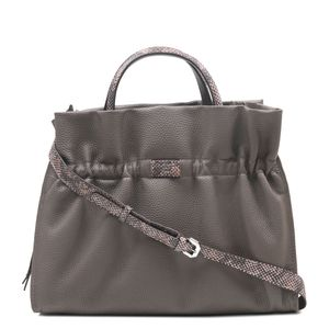 46b1835d34 Da Milano Brown Satchel Bag ...