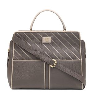 625db56ab9e Da Milano Brown Satchel Bag ...