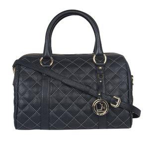 Da Milano Lb-7048Ss17 Black Quilting Top Handle Bag