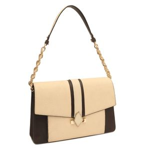 7a95a48329 ... Da Milano White Brown Tote Bag
