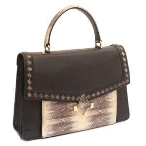 fdc8de8503135 Sale. Da Milano Black Grey Satchel Bag Da Milano Black Grey Satchel Bag