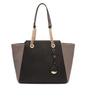 Da Milano Black Grey Tote Bag