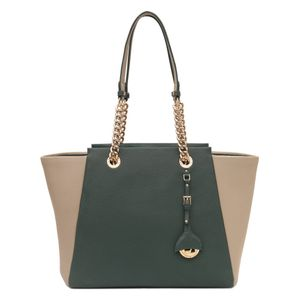 Da Milano Green Grey Tote Bag