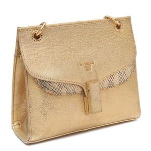 Da Milano Gold Silver Sling Bag