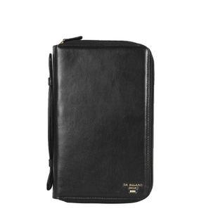 Da Milano Black Passport Case