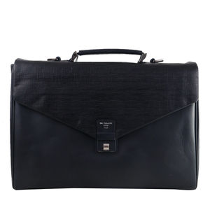 Da Milano Pf-2010 Black Matrix Leather Portfolio