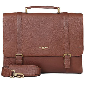 Da Milano Pf-2011 Brown Itp Leather Portfolio