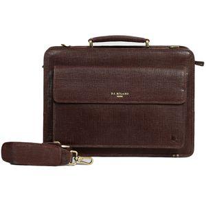 Da Milano Pf-1717 Brown Matrix Leather Portfolio