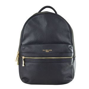 Da Milano Unisex RCB-0309 BLACK WAX Laptop Backpack
