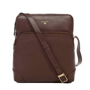 Da Milano Men's Sb-0009 Brown Sling-Messenger Bag