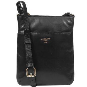 Da Milano Men's Sb-0029 Black Sling-Messenger Bag