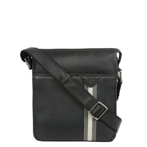 Da Milano Black/Grey Sling Bag