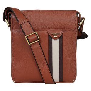 Da Milano Men's Sb-0041S Con/Brn Sling-Messenger Bag