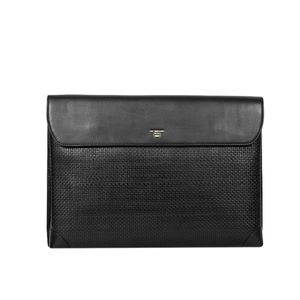 Da Milano Men's Sl-0207L Black Mat Computer Bag