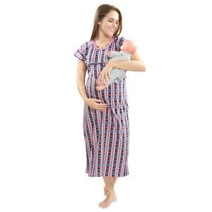 53147dd5f9 Checks Printed Maternity Nighty