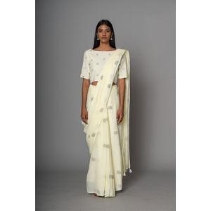 e89fe4bf2c4b7 Champaka-Printed Embroidered blouse