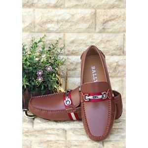 97eb9e5c93a Sale BALLY BROWN LEATHER LOAFERS