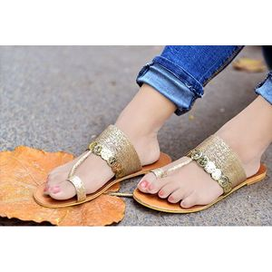 Pkkart Women's GOLDEN Flats