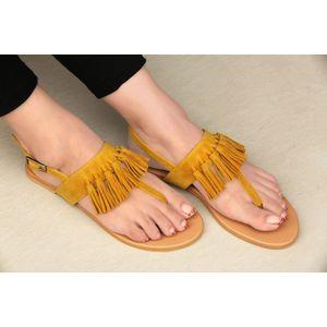 Pkkart Women's Yellow Flats