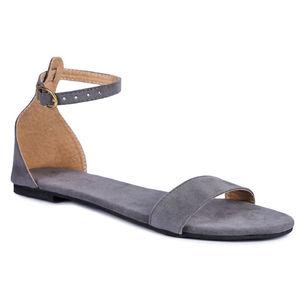 Pkkart women's gray velvet flats and sandals