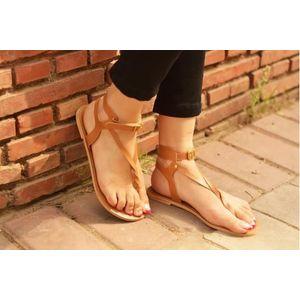 Pkkart Women's  Tan Flats