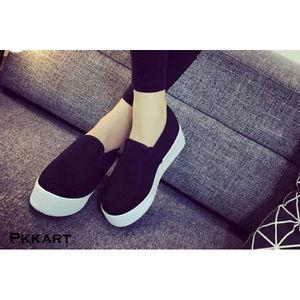 Pkkart Women's Casual Black Sneakers
