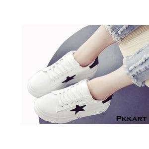 Pkkart Women's White Sneakers