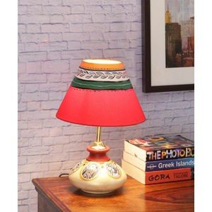 Lamps lighting terracotta flat simmer gold lamp with shade aloadofball Image collections
