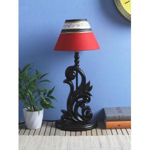 8 lamp shade diy hand painted round inch red black lamp shade shades