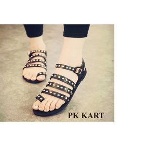 Pkkart Women's  Blue Flats with studs
