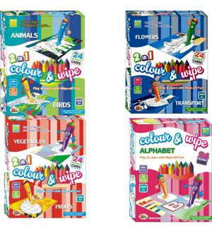 Ekta Colour N Wipe PreSchool Play And Learn Combo 4pcs