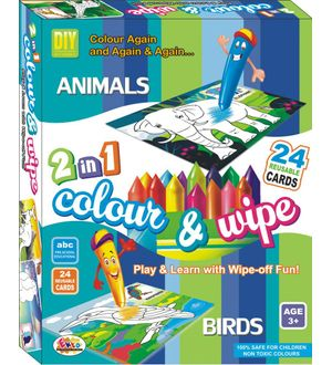 Ekta Colour N Wipe Animals And Birds