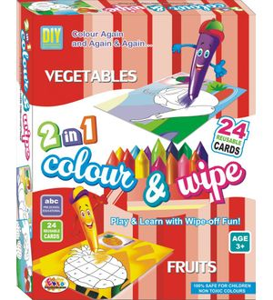 Ekta Colour N Wipe Vegetables And Fruits