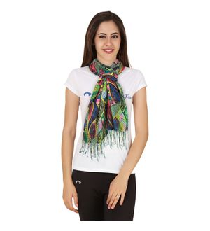 Sheetla Viscose Stole Scave Print Design Multicolor Causal For Women