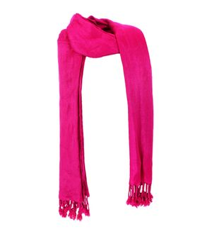 Sheetla Viscose Jacquard Stole Dark Pink Casual Self Print For Women