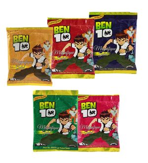 Ben 10 Summer Toy Herbal Gulal 500Gms Pack Licensed Product(5 Pack of 100 Gms)