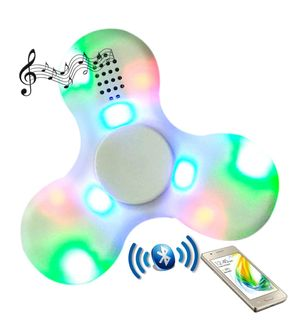 Fidget Spinner Bluetooth Speaker Enable:Light:Usb Charging;Relieves Stress; Relieves ADHD; Spinning Time 15-30 Secs; Get Rid Of Cellphone;Colour May Vary