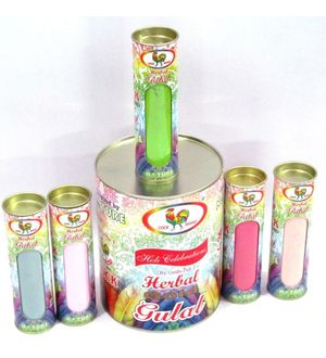 Cock Herbal Gulal New Style Pack 80 Gms of 5 Pack