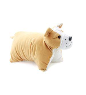 DealBindaas Teddy Pillow Stuff Toy FOLDING CUSHION Bull Dog