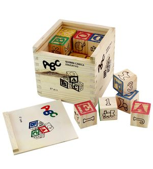 DealBindaas 27 Pcs Blocks Aplha And Numbers Wooden