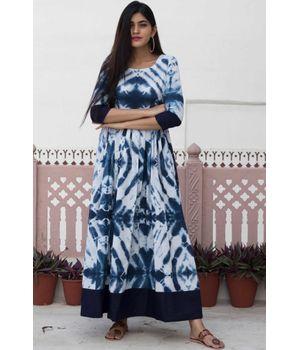 Tie Dye Border Dress