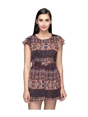 Multicolor Printed Playsuit