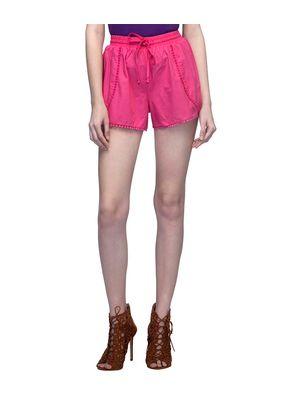Pink Shorts With Drawstring